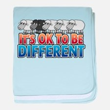 Black Sheep - Be Different baby blanket