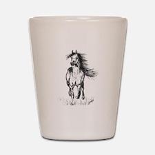 Runner Arabian Horse Shot Glass
