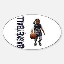 Cute Streetball Sticker (Oval)