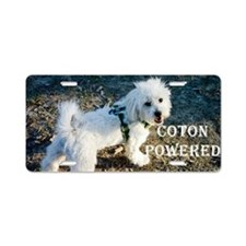 Coton Powered Aluminum License Plate