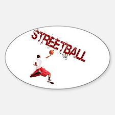 Cool Streetball Sticker (Oval)