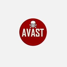 Avast (Stop Sign) Mini Button