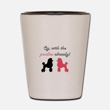 Funny Poodles Shot Glass