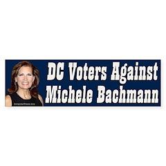 DC Voters Against Michele Bachmann bumper sticker