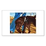 Guide Dog Jack - Sticker (Rectangle)