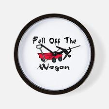 Fell Off The Wagon Wall Clock