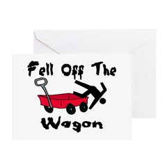 Fell Off The Wagon Greeting Card