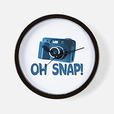 Oh Snap Camera Wall Clock