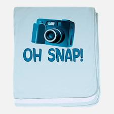 Oh Snap Camera baby blanket