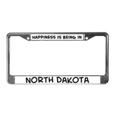 Happiness is North Dakota License Plate Frame