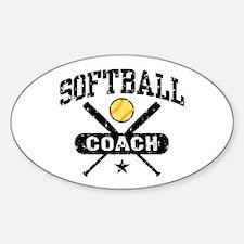 Softball Coach Decal