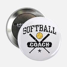 """Softball Coach 2.25"""" Button"""