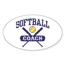 Softball Coach Decal