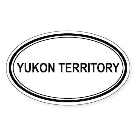 Yukon Territory Euro Oval Sticker