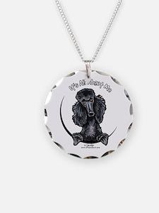 Black Standard Poodle IAAM Necklace
