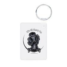 Black Standard Poodle IAAM Keychains