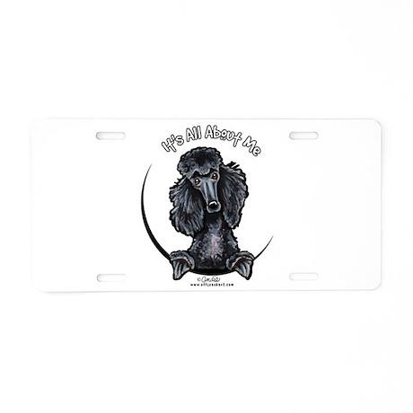 Black Standard Poodle IAAM Aluminum License Plate