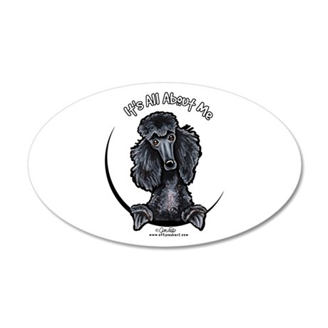 Black Standard Poodle IAAM 22x14 Oval Wall Peel