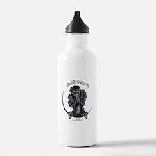 Black Standard Poodle IAAM Water Bottle