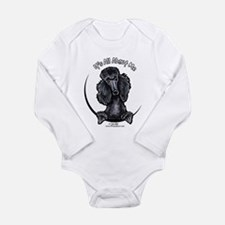 Black Standard Poodle IAAM Long Sleeve Infant Body