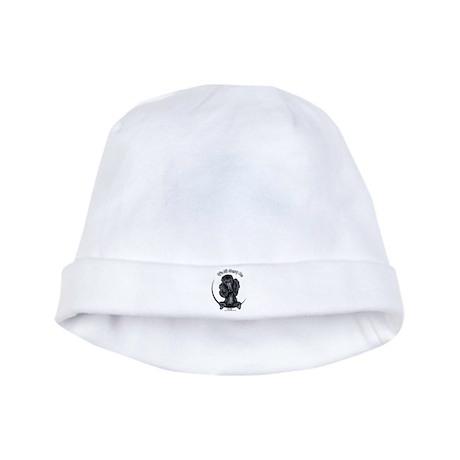 Black Standard Poodle IAAM baby hat