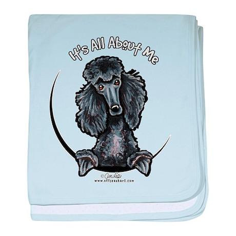 Black Standard Poodle IAAM baby blanket