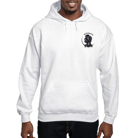 Black Standard Poodle IAAM Pocket Hooded Sweatshir