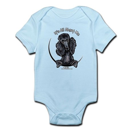 Black Standard Poodle IAAM Infant Bodysuit