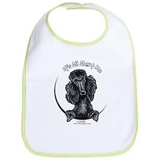 Black Standard Poodle IAAM Bib