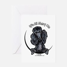 Black Standard Poodle IAAM Greeting Card