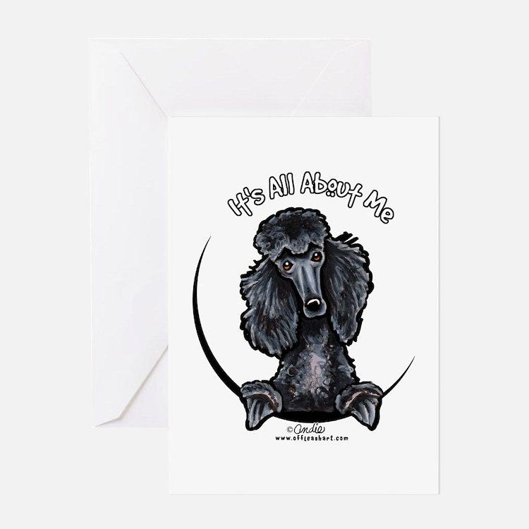 Black Standard Poodle IAAM Greeting Card