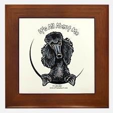 Black Standard Poodle IAAM Framed Tile