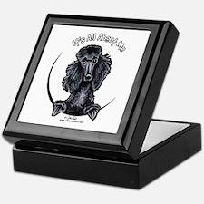 Black Standard Poodle IAAM Keepsake Box