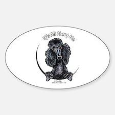 Black Standard Poodle IAAM Decal