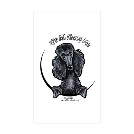Black Standard Poodle IAAM Sticker (Rectangle)