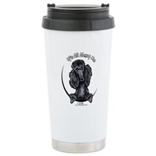 Black Standard Poodle IAAM Travel Mug