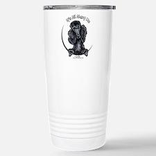 Black Standard Poodle IAAM Travel Mug