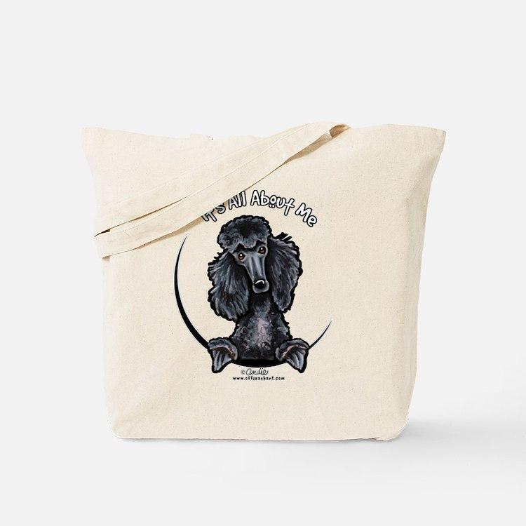 Black Standard Poodle IAAM Tote Bag