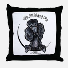 Black Standard Poodle IAAM Throw Pillow