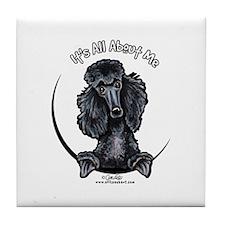 Black Standard Poodle IAAM Tile Coaster