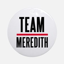 Team Meredith Grey's Anatomy Ornament (Round)