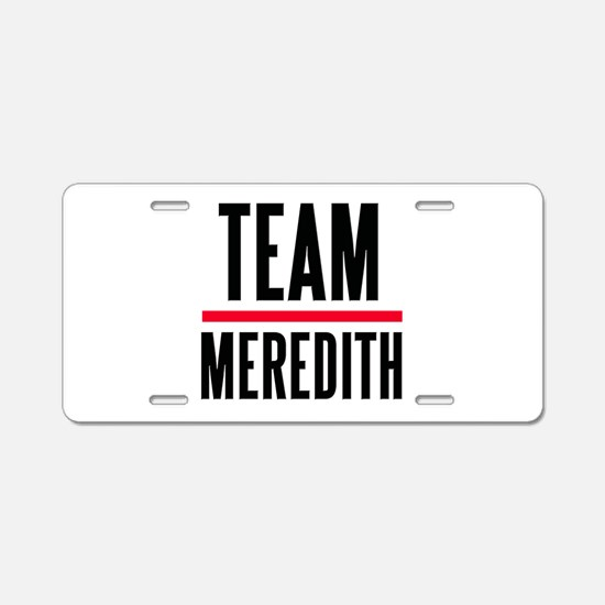 Team Meredith Grey's Anatomy Aluminum License Plat