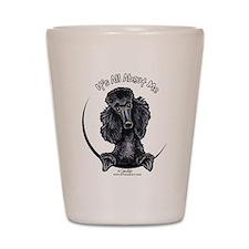 Black Standard Poodle IAAM Shot Glass