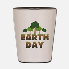 Earth Day Trees Shot Glass