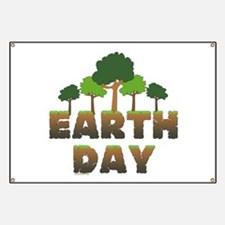 Earth Day Trees Banner