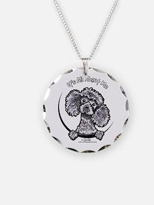 Gray Poodle IAAM Necklace