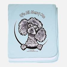 Gray Poodle IAAM baby blanket