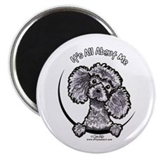 Gray Poodle IAAM Magnet