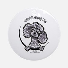 Gray Poodle IAAM Ornament (Round)
