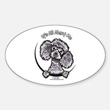 Gray Poodle IAAM Sticker (Oval)